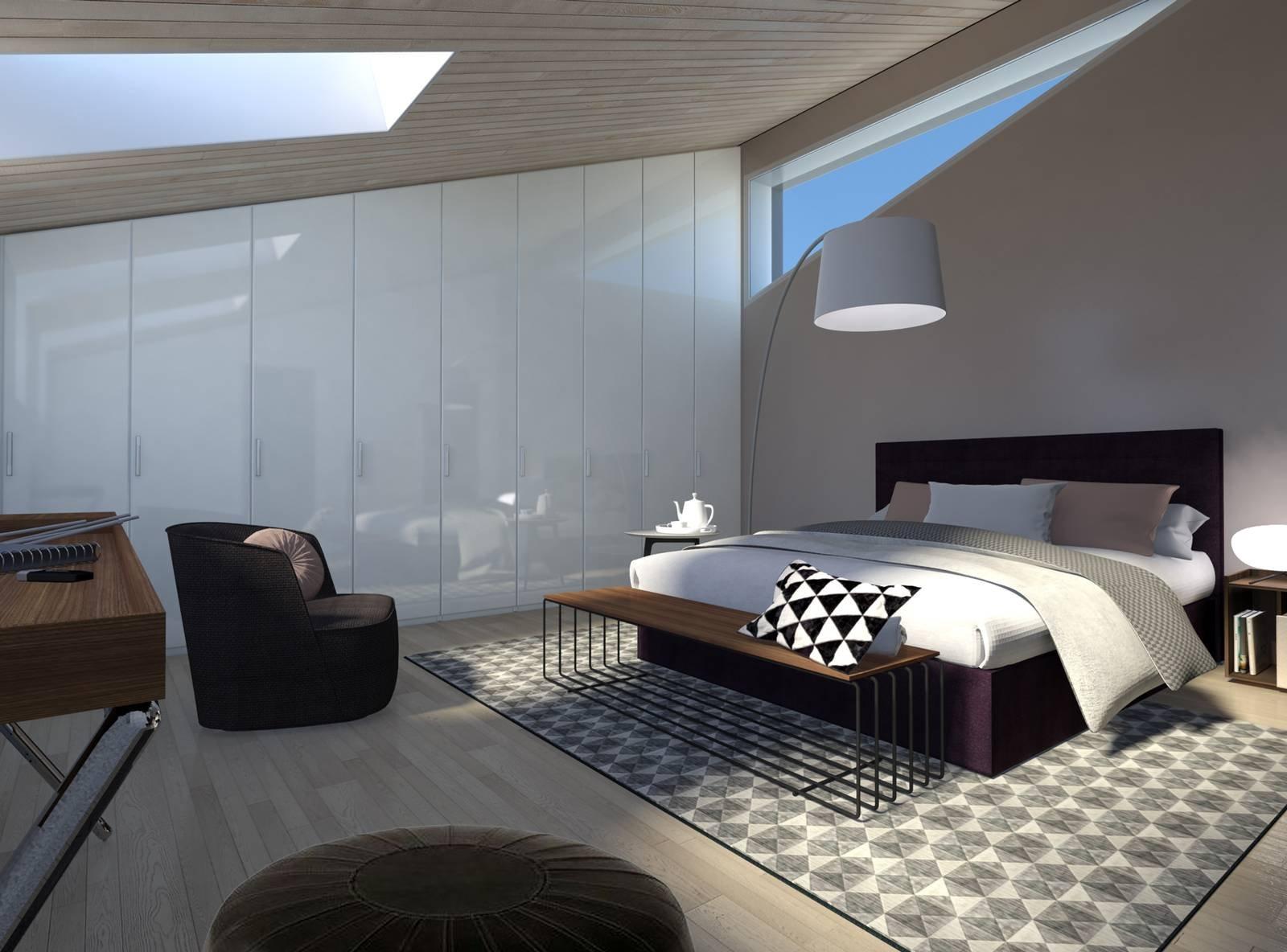 Arredare la mansarda con soluzioni su misura progetto in - Progetto camera ...