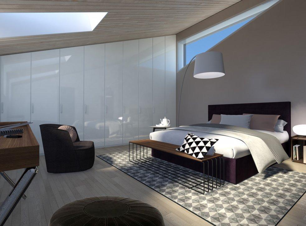 Arredare la mansarda con soluzioni su misura progetto in for Programma x arredare casa 3d