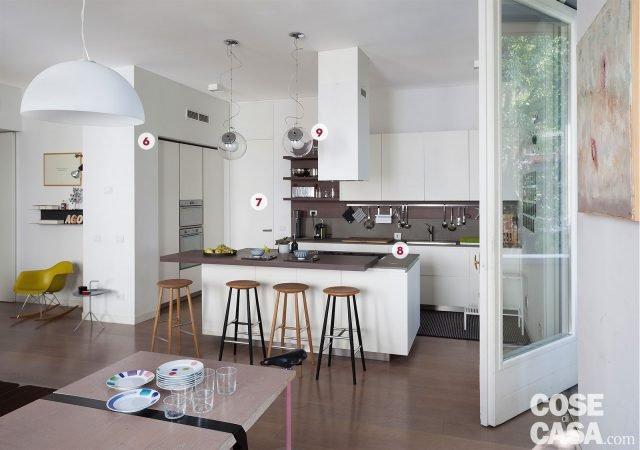 Una casa con il soggiorno open space che diventa pi for Costo isola cucina