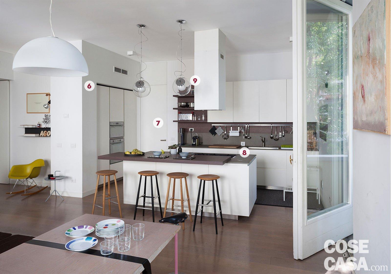 Una casa con il soggiorno open space che diventa pi for Immagini per cucina