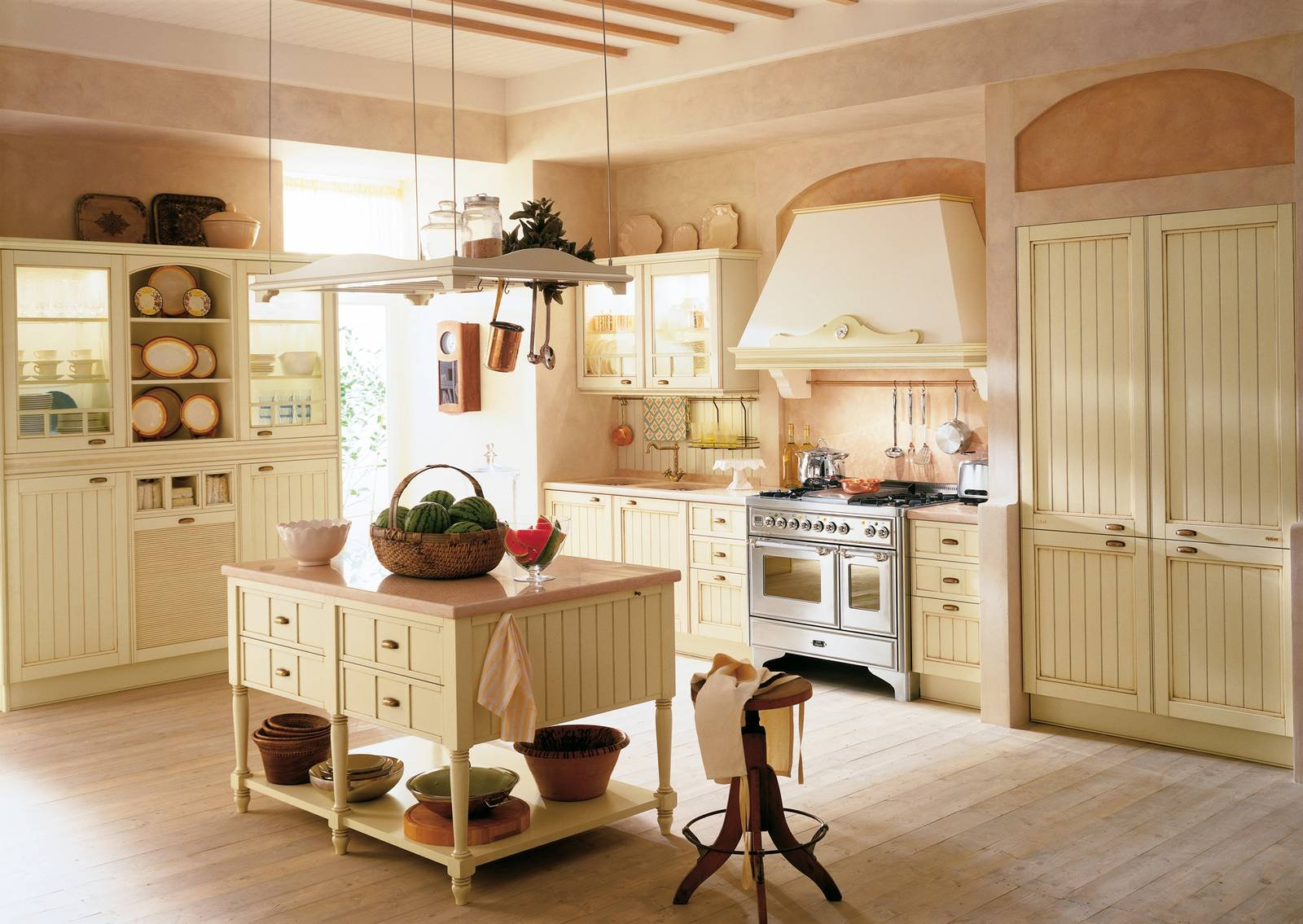 Febal aida cucine stile country cose di casa for Piccoli piani di casa con un sacco di finestre