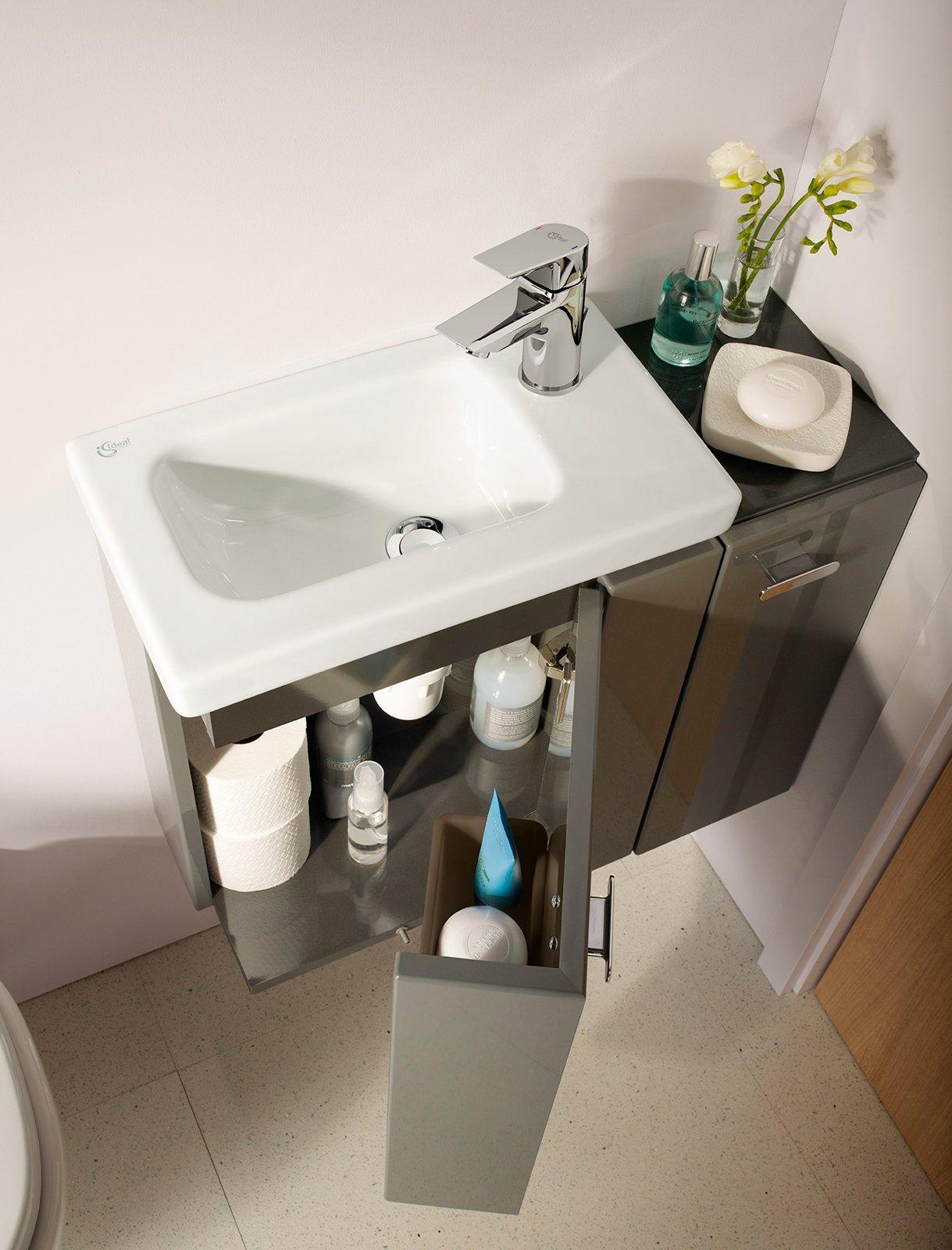 Connect space sanitari lavabi e mobili bagno salvaspazio for Mobili bagno ideal standard