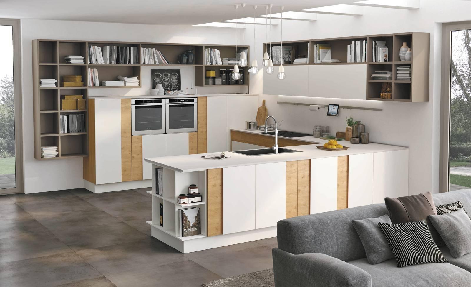 Cucina effetto legno la bellezza dell 39 essenza con i for Cucina legno bianco