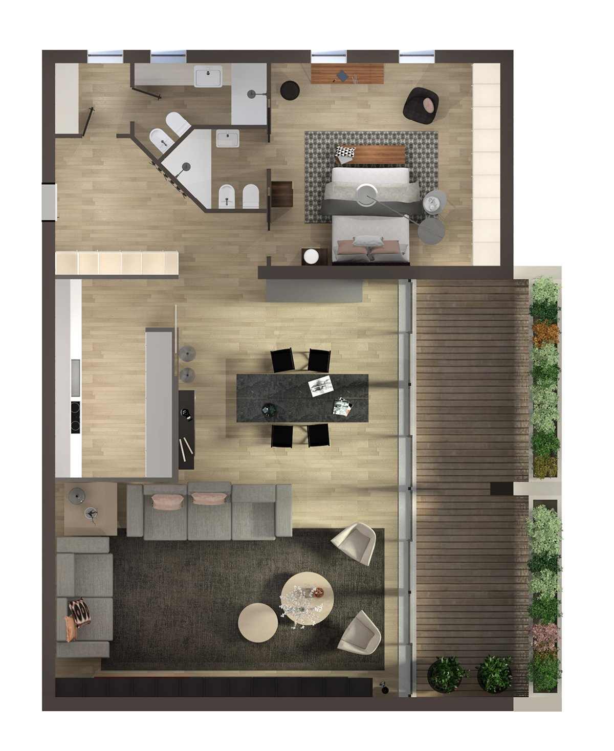 Arredare la mansarda con soluzioni su misura progetto in 3d cose di casa - Planner bagno 3d ...