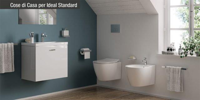 Connect Space: sanitari, lavabi e mobili bagno salvaspazio
