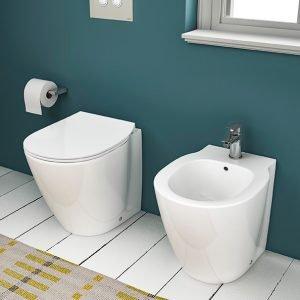 Sanitari a terra Connect Space di Ideal Standard, Miscelatore bidet Ceramix. www.idealstandard.it