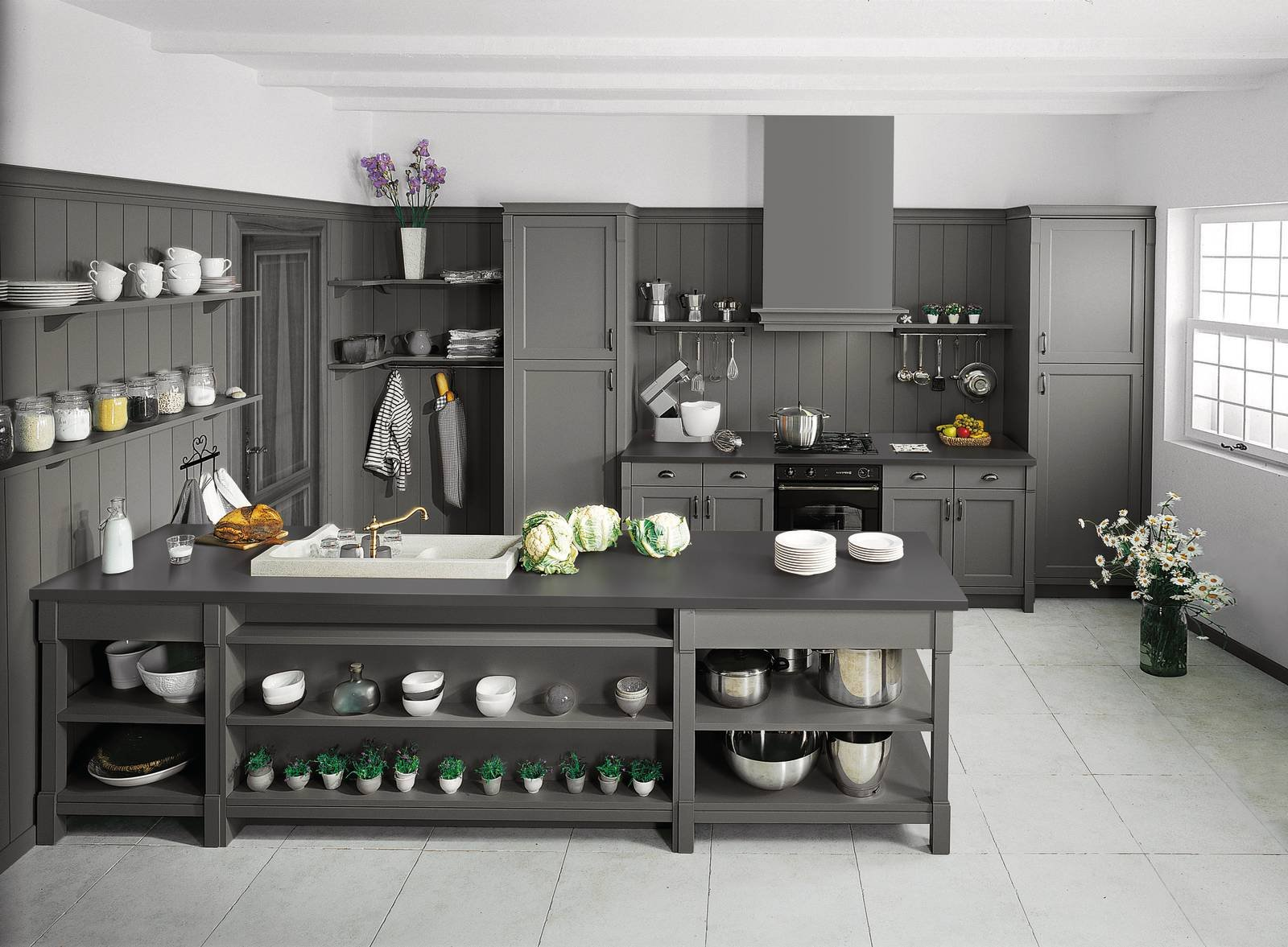 cucina in stile country anche in versione attuale cose di casa. Black Bedroom Furniture Sets. Home Design Ideas