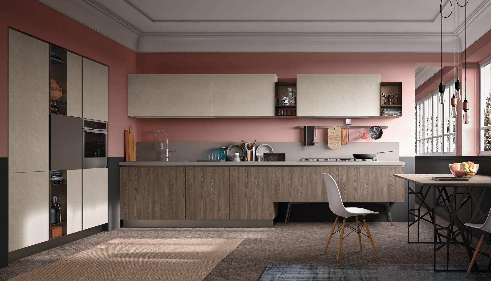 Cucina effetto legno la bellezza dell 39 essenza con i - Verniciare la cucina ...