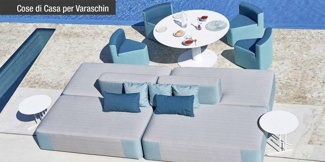 Comfort e qualità con l'arredo open air di Varaschin
