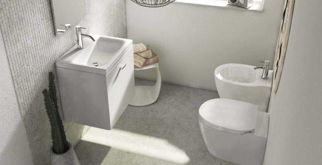Eleganti vasi e bidet in stile minimal i sanitari salvaspazio - Sanitari bagno ideal standard ...