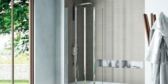 Vasca doccia: le pareti sopravasca che permettono la doppia funzione