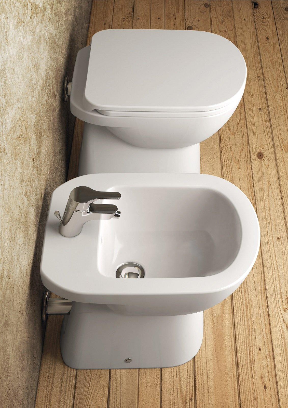 Eleganti vasi e bidet in stile minimal i sanitari salvaspazio - Sanitari bagno dolomite ...