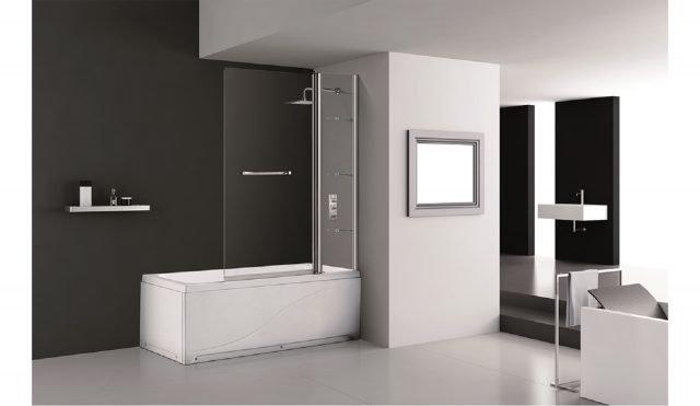 Nei bagni di piccole dimensioni la vasca diventa for Parete vasca pieghevole leroy merlin