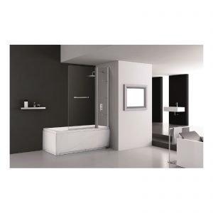 Nei bagni di piccole dimensioni la vasca diventa multifunzione e si trasforma in doccia grazie - Dimensioni doccia standard ...