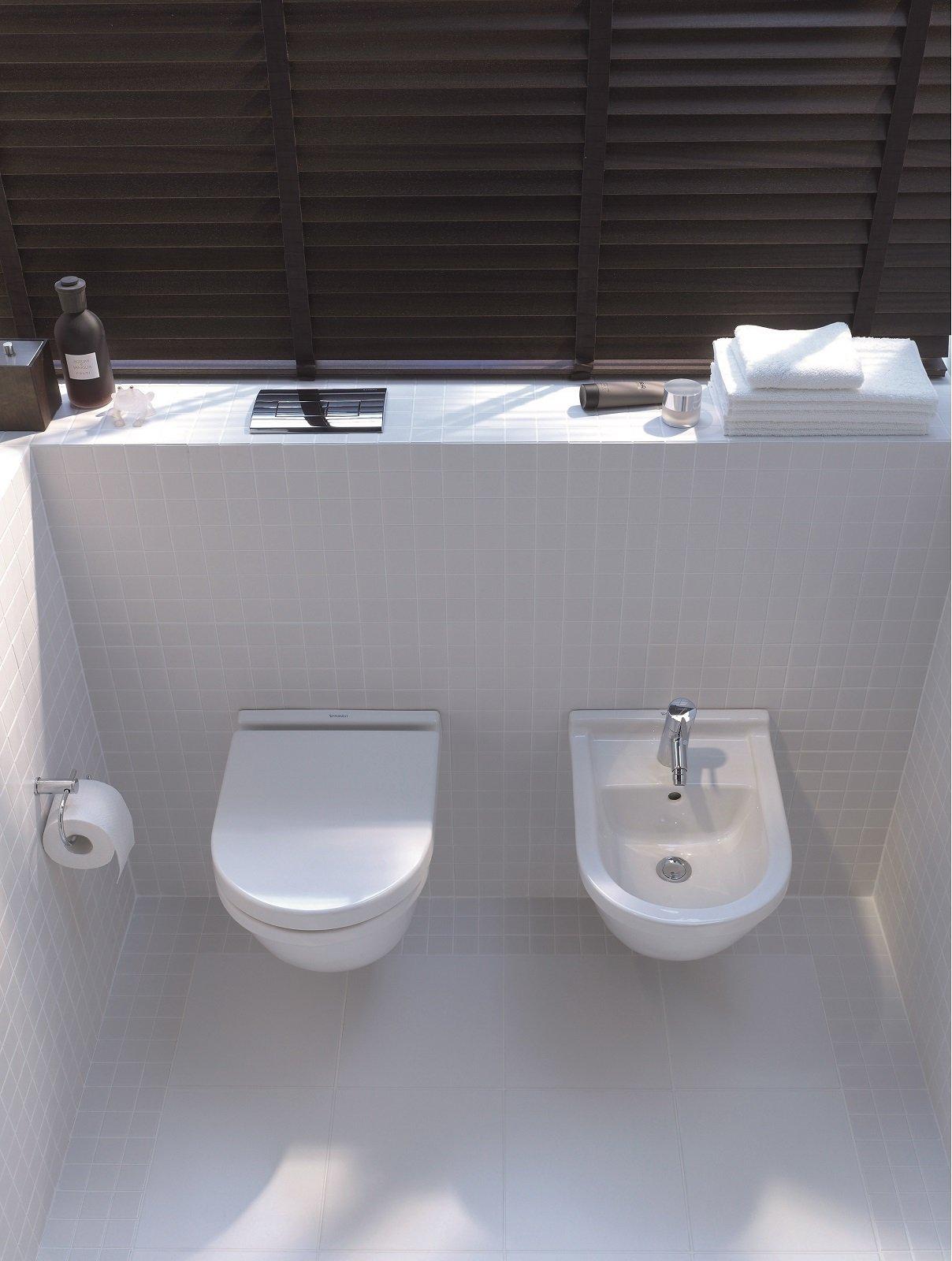 Eleganti vasi e bidet in stile minimal i sanitari salvaspazio - Sanitari bagno dimensioni ...