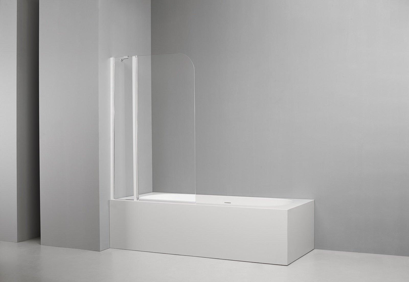 Pareti Per Doccia In Vetro : Nei bagni di piccole dimensioni la vasca diventa multifunzione e si