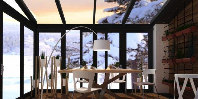 Fare la veranda per il giardino d'inverno
