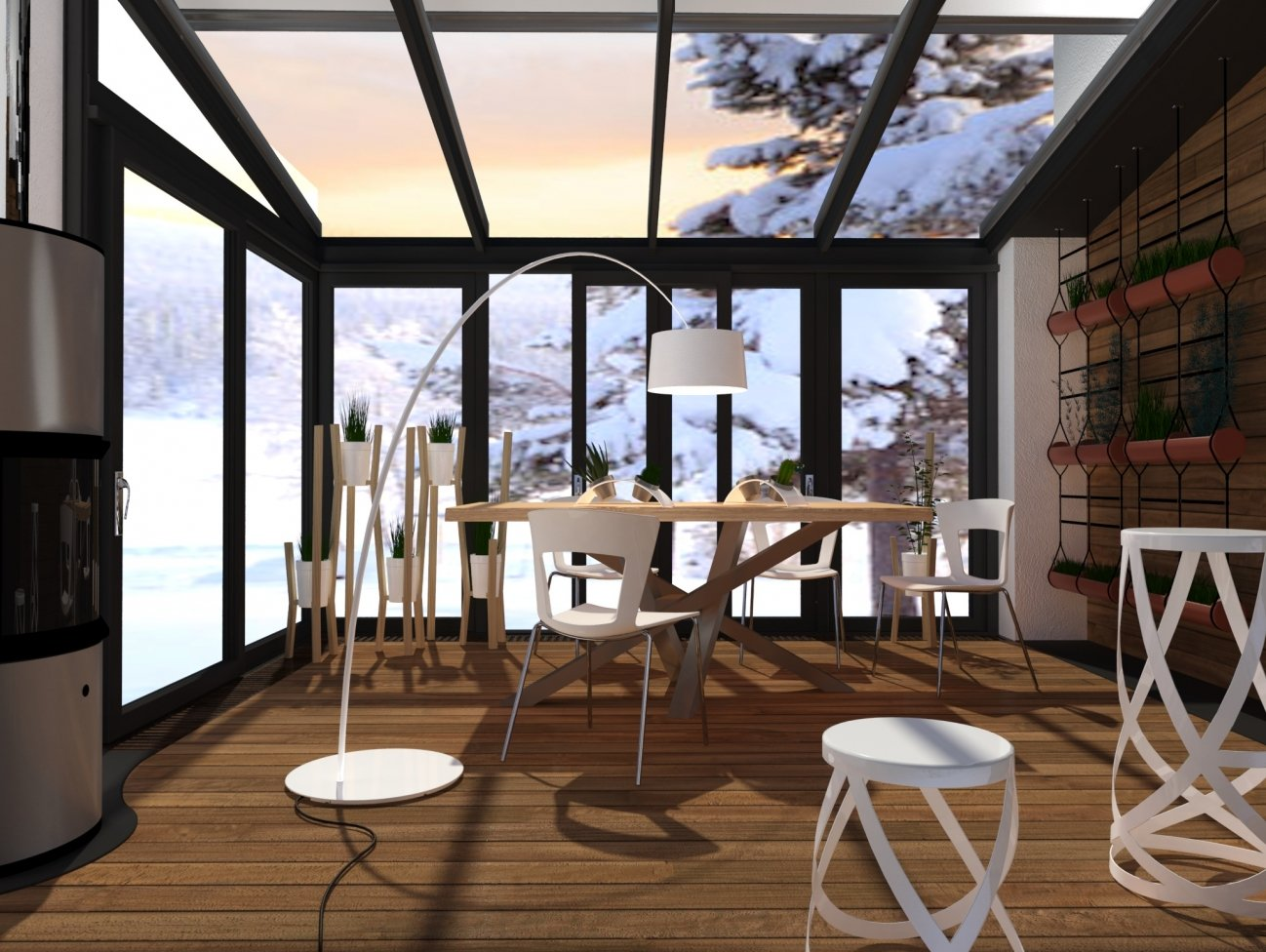 Fare la veranda per il giardino d 39 inverno - Arredare giardino d inverno ...