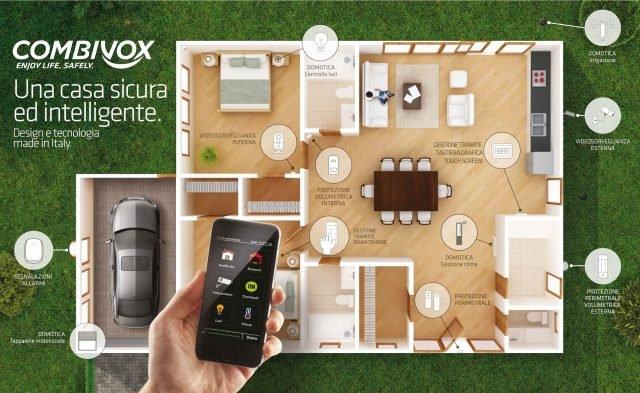 Sistema Casa Combivox per la gestione integrata di Antifurto, Videosorveglianza e Domotica
