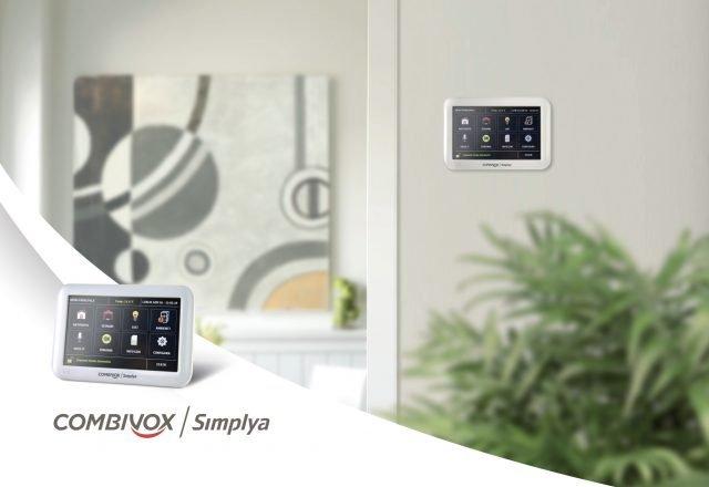 """Tastiera Simplya touch screen 5"""" con grafica ad icone per la gestione utente semplice ed intuitiva delle funzioni Antifurto e Domotica"""