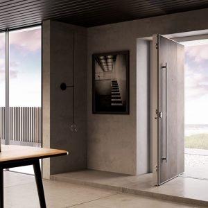 Porta blindata con apertura a bilico Di.Big di Di.Bi. Classe antieffrazione: 3. (/www.dibigroup.com/it)
