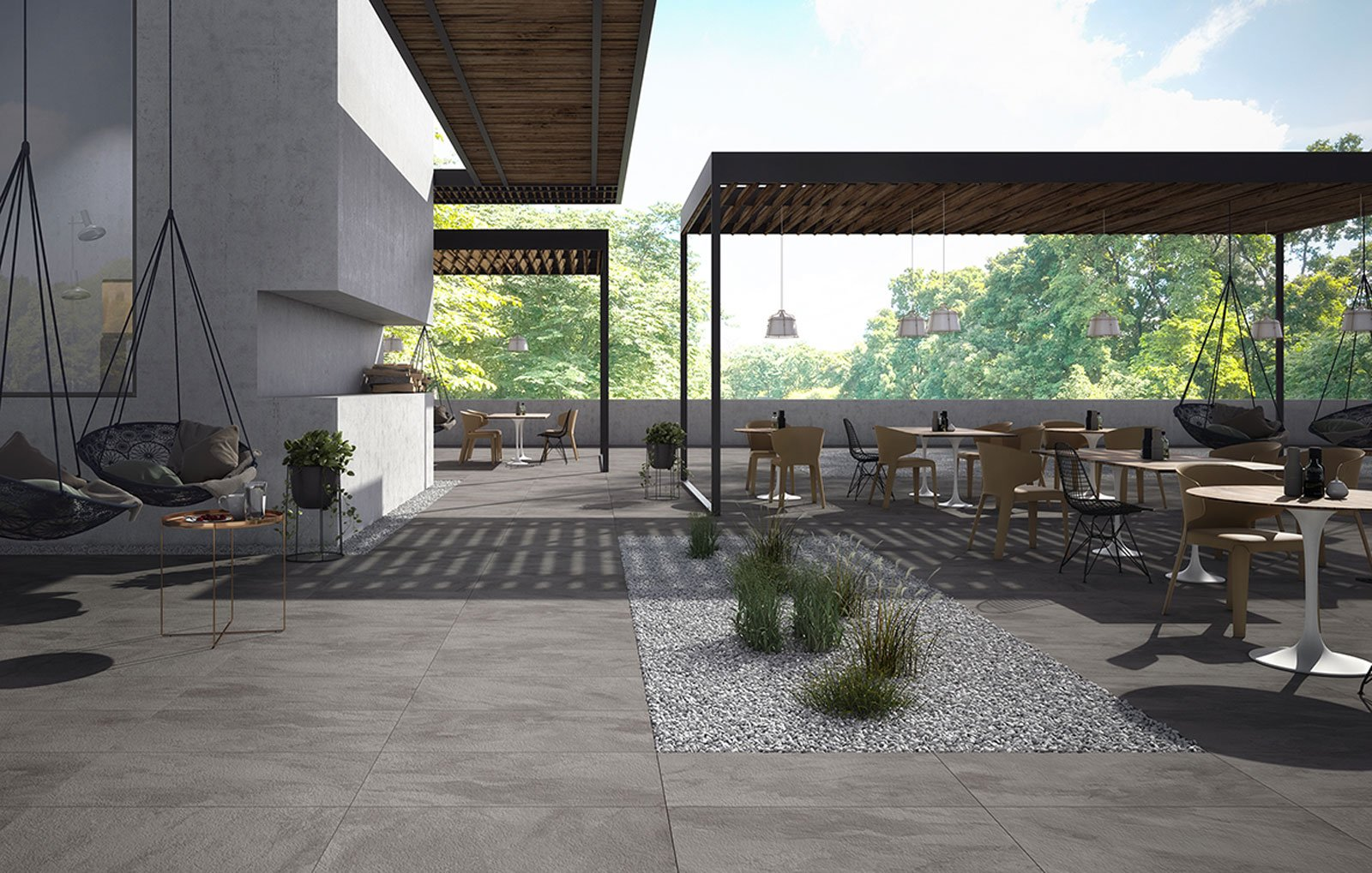 Gres porcellanato il pi facile dei pavimenti esterni for Mattonelle per esterno
