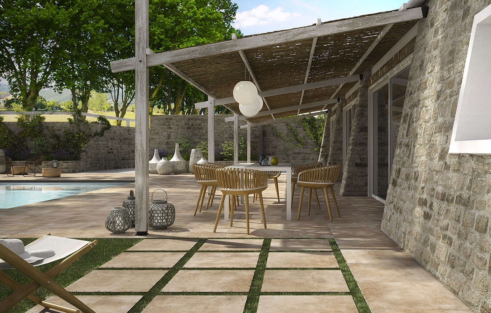Gres porcellanato il pi facile dei pavimenti esterni cose di casa - Esterni moderni ...