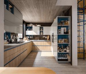 Legno o effetto legno in cucina si usa chiaro o scuro 10 - Cucine a ferro di cavallo ...