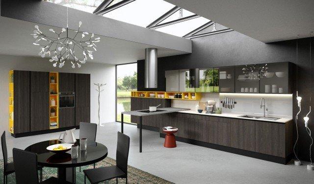 Cucine Moderne Rovere Moro.Legno O Effetto Legno In Cucina Si Usa Chiaro O Scuro 10