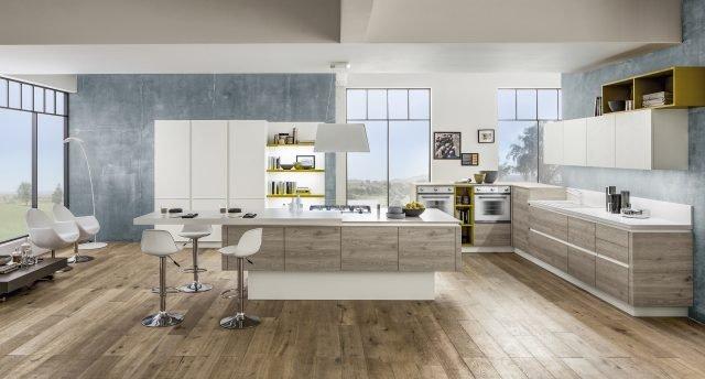 Legno o effetto legno in cucina si usa chiaro o scuro 10 - Cucina laminato effetto legno ...