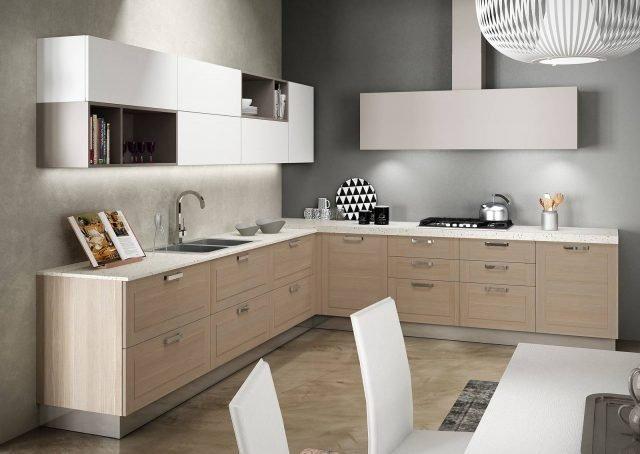 Cucine Componibili Acciaio : Legno o effetto in cucina si usa chiaro scuro