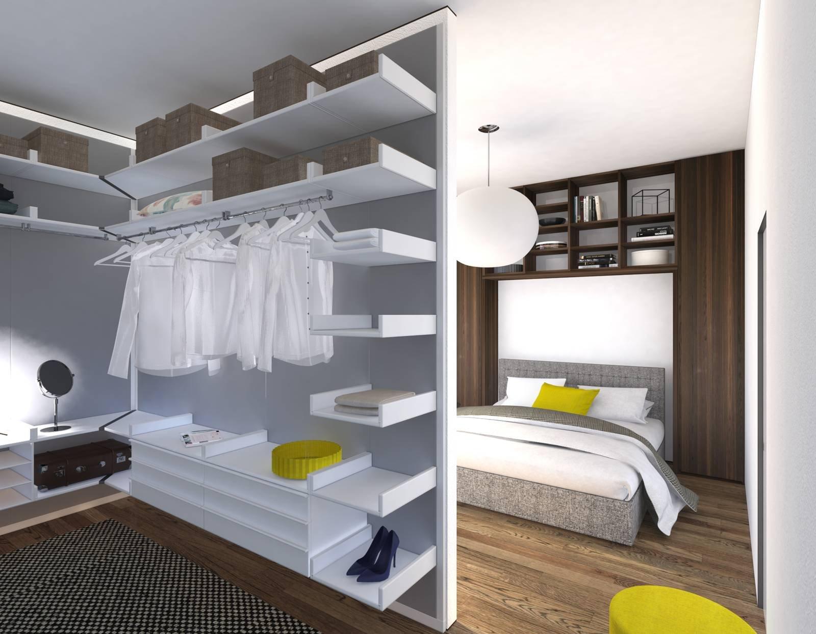 Progetti Camere Da Letto Con Cabina Armadio : Progetti in d contenere al massimo con i sistemi per la zona
