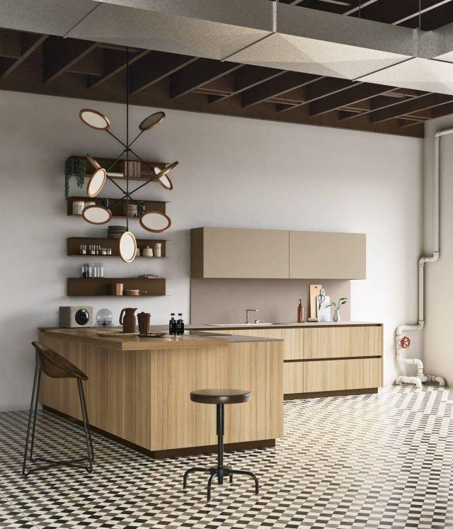 Legno o effetto legno in cucina si usa chiaro o scuro 10 modelli con il prezzo cose di casa - Schienale cucina laminato ...