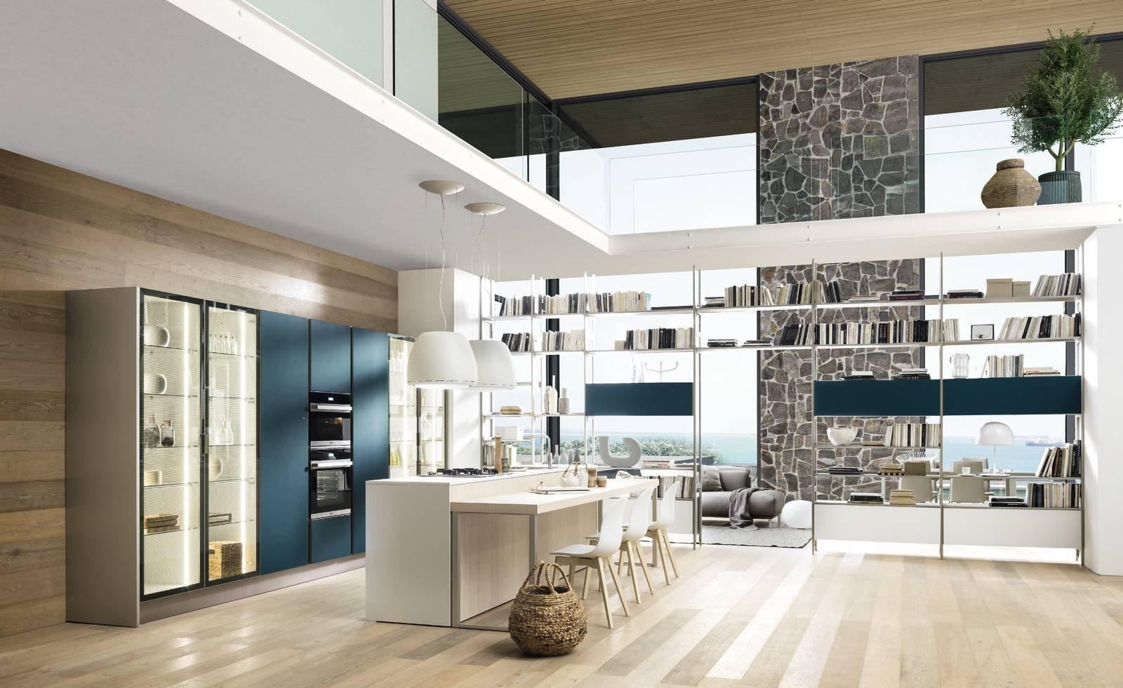 14 soluzioni coordinate di cucina soggiorno cose di casa - Libreria per cucina ...