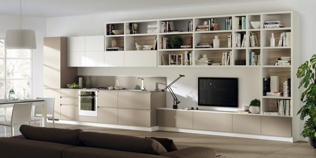 14 soluzioni coordinate di cucina soggiorno