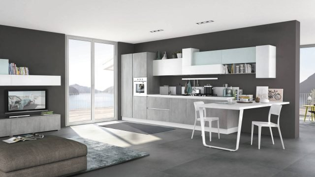 14 soluzioni coordinate di cucina soggiorno colore torino for Soluzioni soggiorno