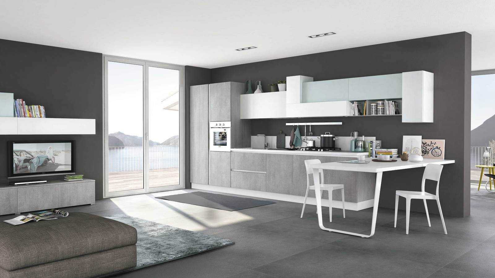 14 soluzioni coordinate di cucina soggiorno cose di casa for Soluzioni soggiorno