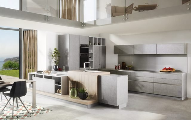 schmidt arcos eolis cucina coordinata con il living