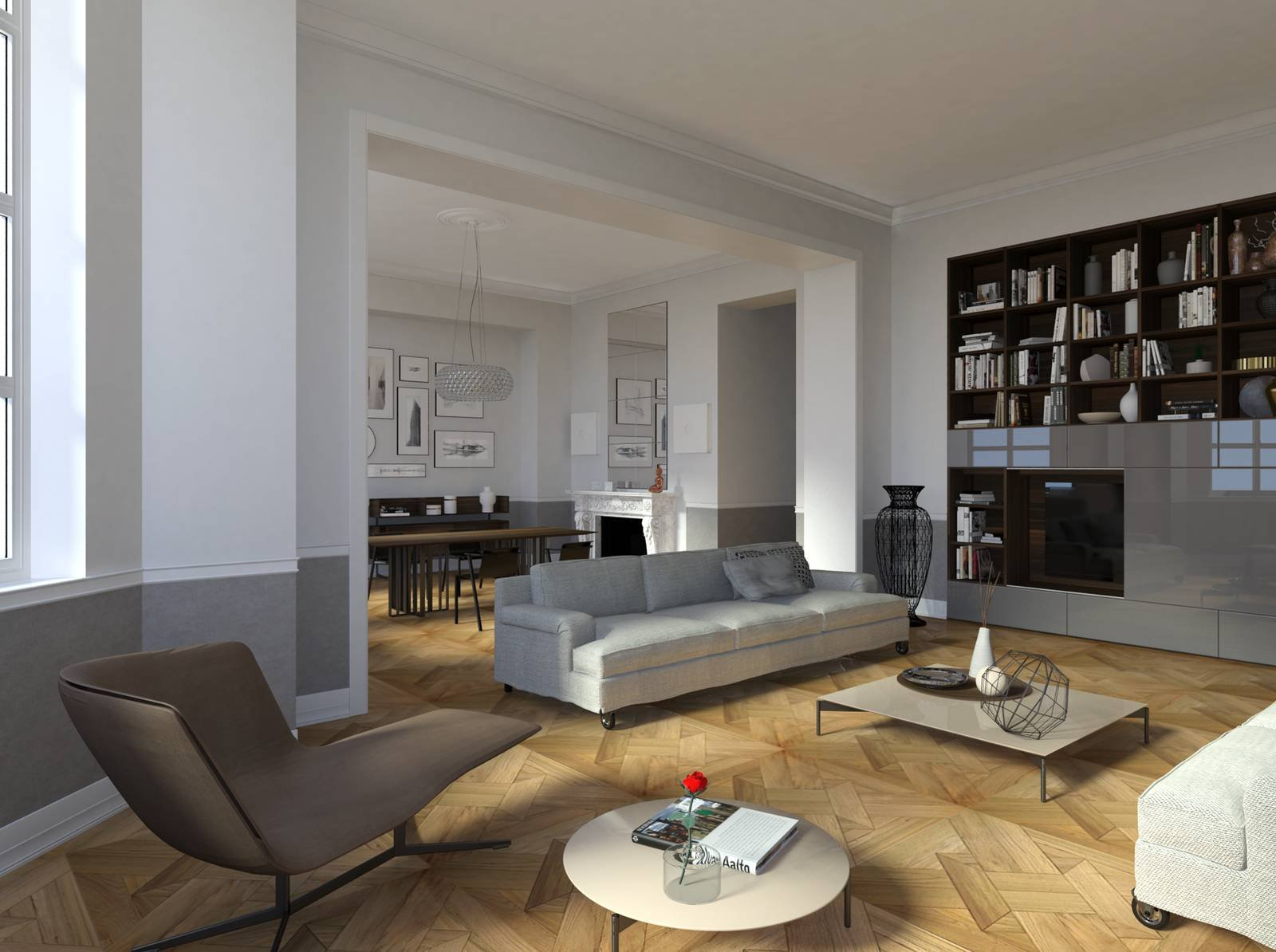 Casa d epoca arredi contemporanei progetto di interior for Arredamento d epoca