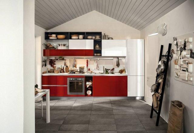 Cucina Rosso Mattone Sistema 901 : Cucina colorata modelli supervivaci e moderni o sobri