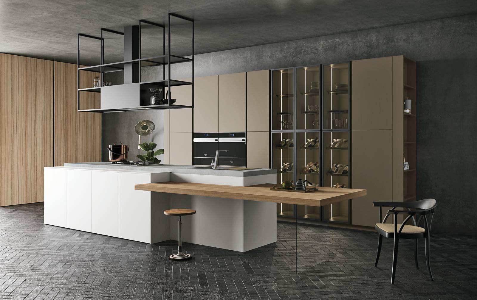 Beautiful style di doimo cucine la cucina con isola che ha le ante in melaminico monocolore with - Cucine con isola ...