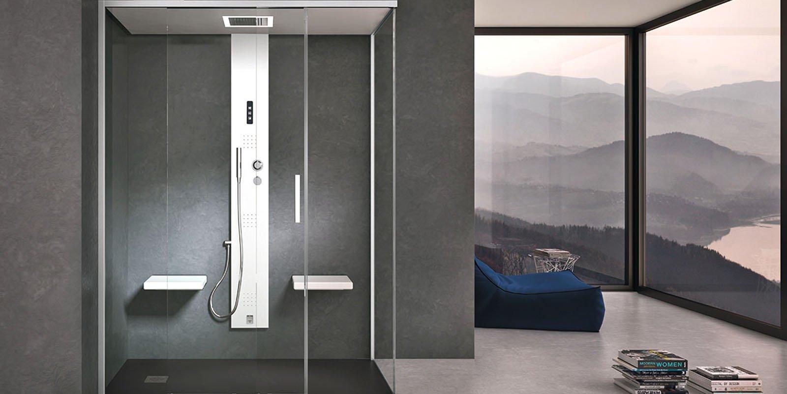 Il bagno turco nella cabina doccia design minimal di una soluzione 2 in 1 cose di casa - Cabina doccia muratura ...