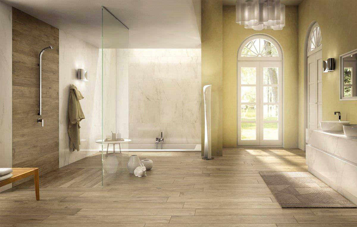 Piastrelle per il bagno dallo stile contemporaneo al classico tendenze e atmosfere con polis for Bagno classico piastrelle
