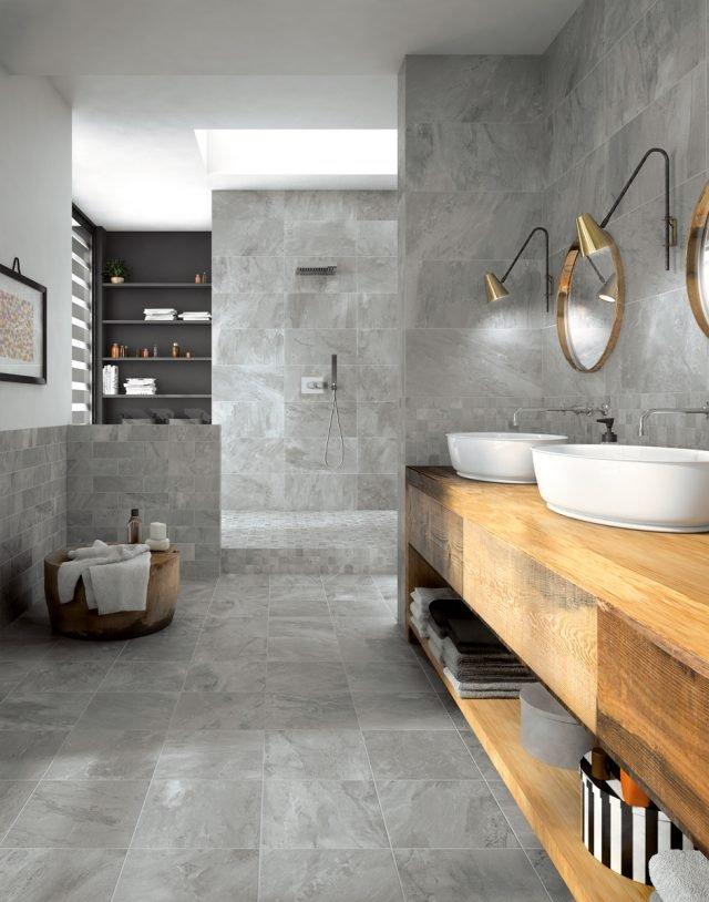 piastrelle per il bagno dallo stile contemporaneo al