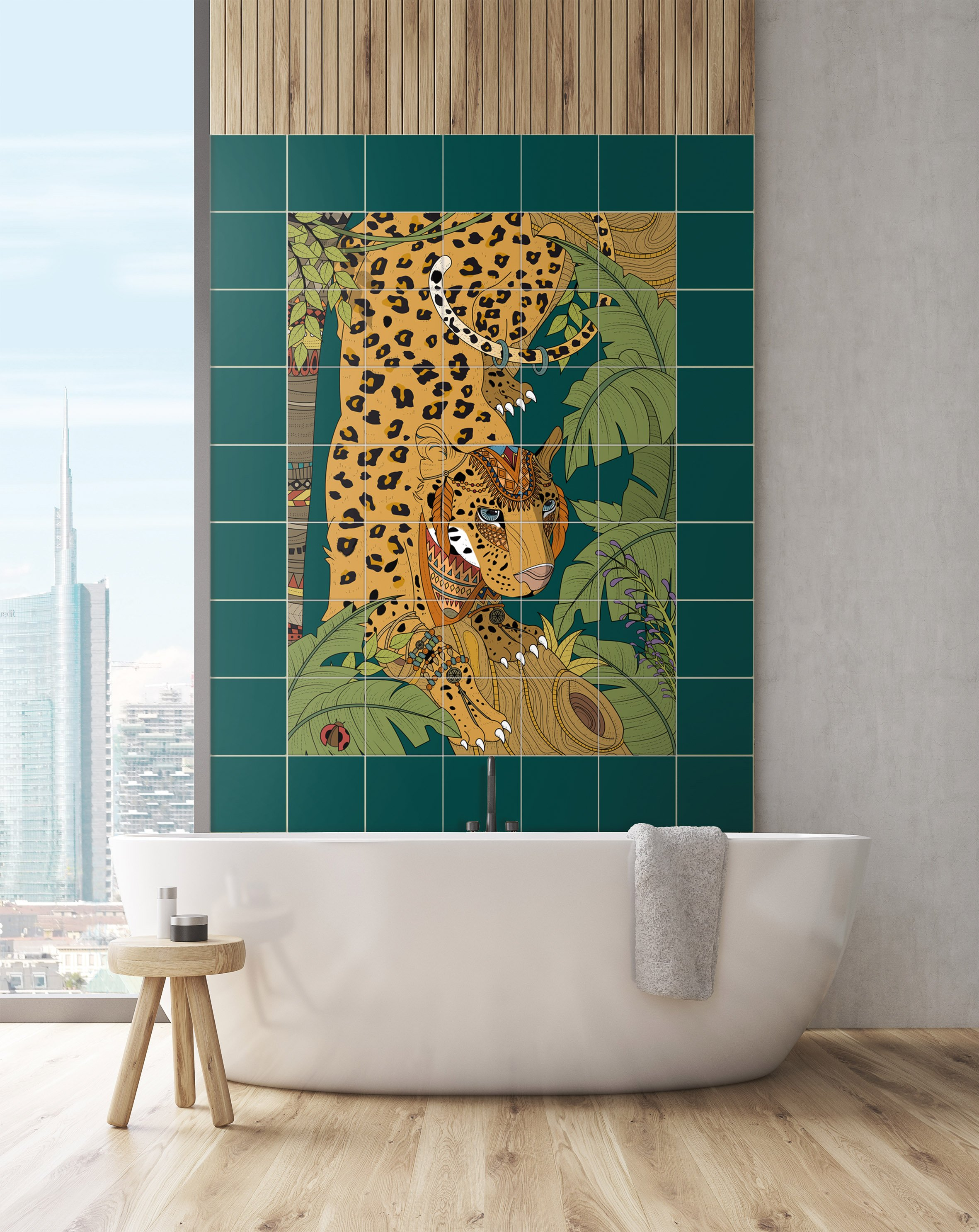 Adesivi per piastrelle per rinnovare il look di pareti e pavimenti cose di casa - Piastrelle adesive per pareti ...