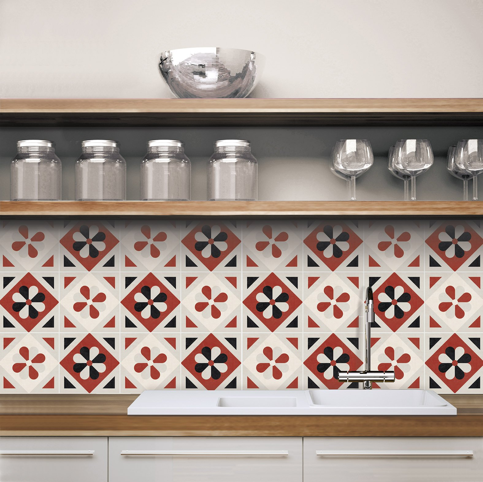 Adesivi per piastrelle per rinnovare il look di pareti e pavimenti ...