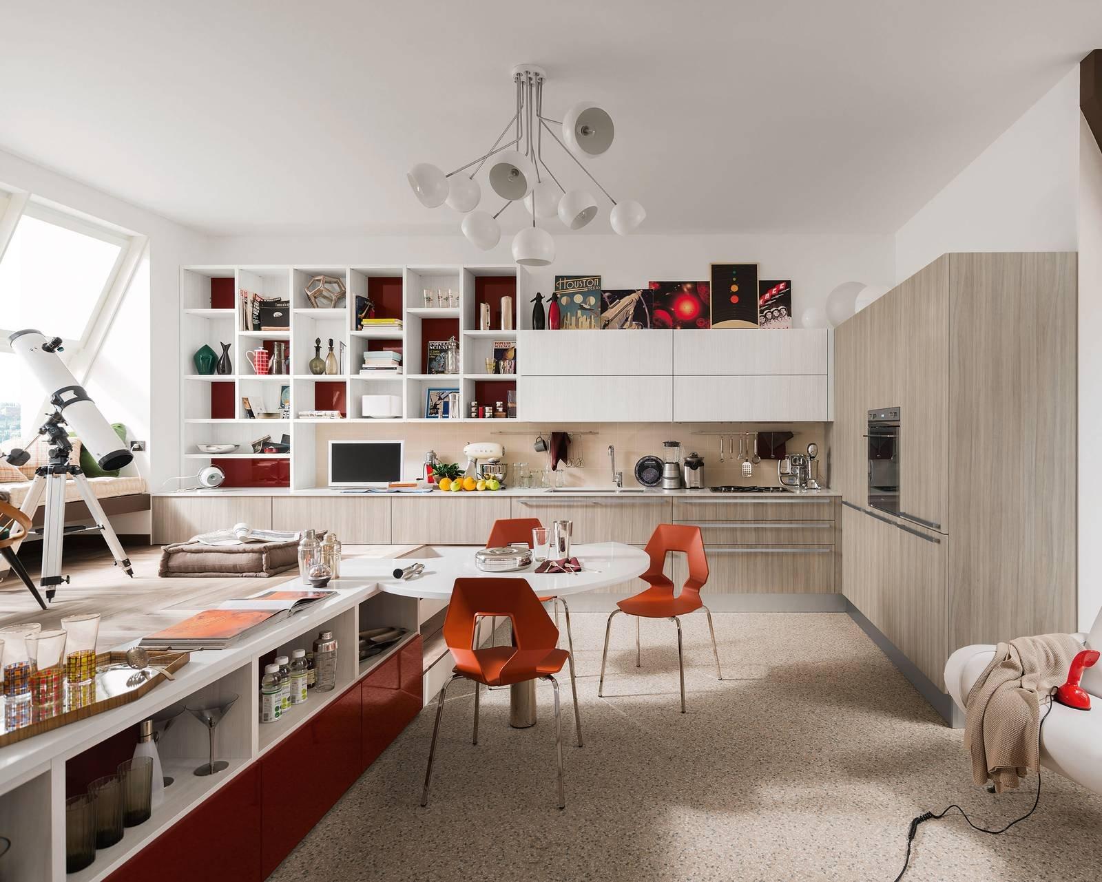 Cucina vani a giorno per dare movimento alla composizione - Cucine a giorno ...