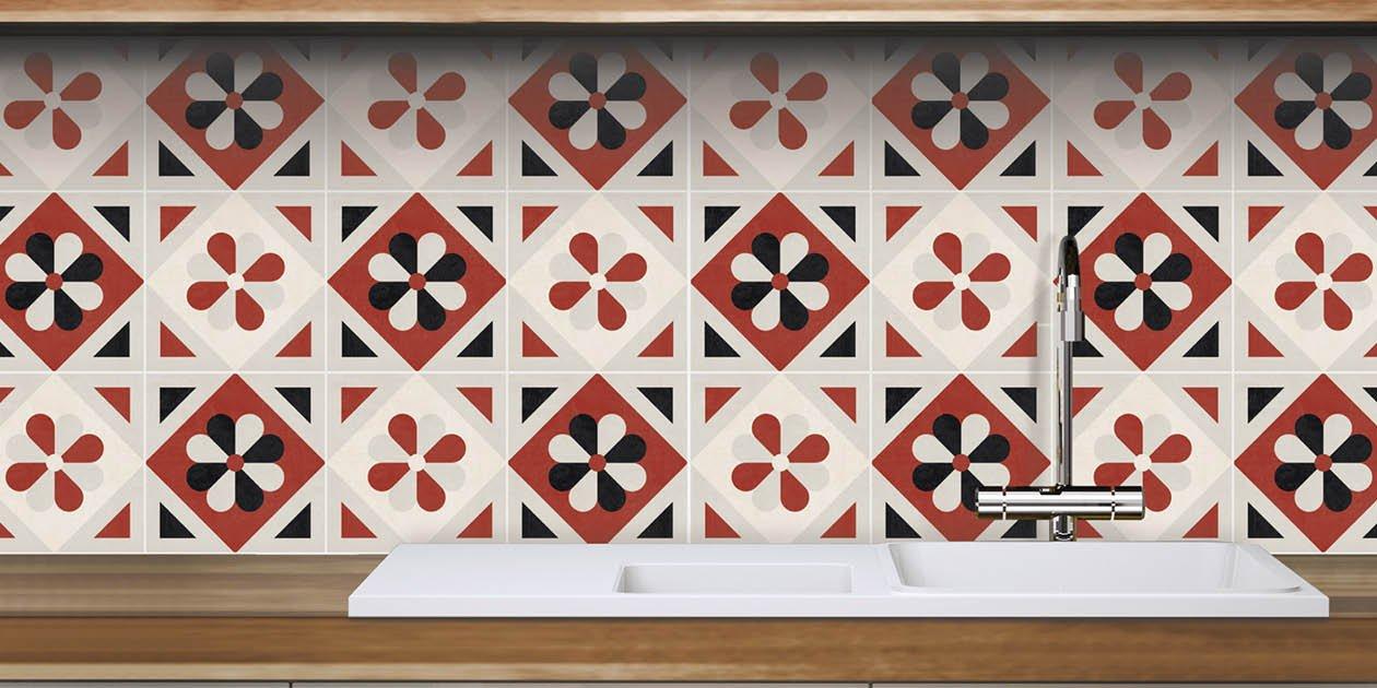Adesivi per piastrelle per rinnovare il look di pareti e - Adesivi per piastrelle ...