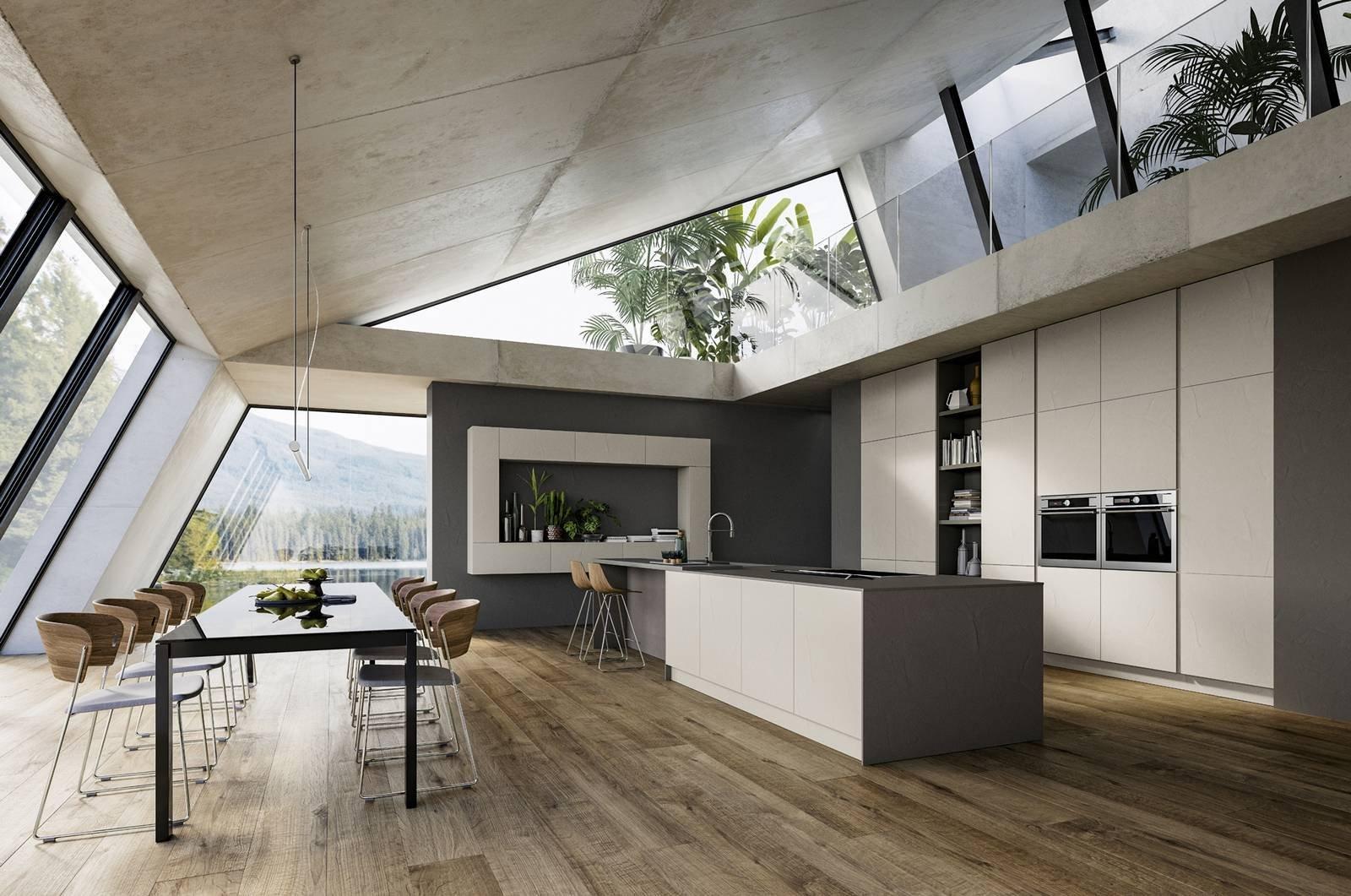 Cucine con l 39 isola 12 modelli per un living votato alla for Immagini design