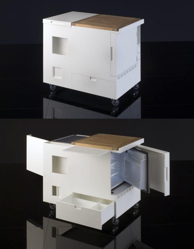Mini cucina jolly salvaspazio dalle funzioni dichiarate o for Carrello design cucina